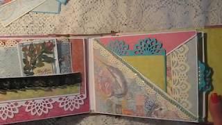 Criss-Cross Scrapbook Mini Album (K&Company) Tutorial availale