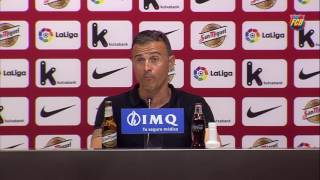 Luis Enrique reacts to 'hard-earned' win