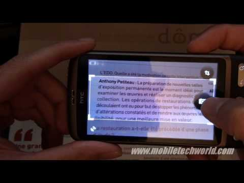 Google Goggles 1.1 Text Translation feature
