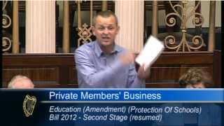 Richard Boyd Barrett TD speaking on Rural Small Schools in Dail Eireann