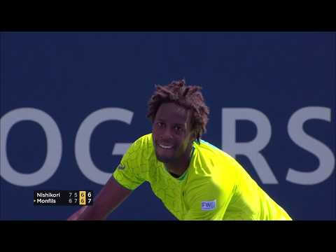 Gael Monfils electrifies National Bank Court in Montreal