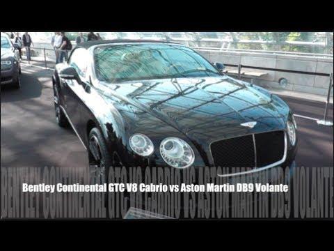 Bentley Continental Gtc V8 Cabrio Vs Aston Martin Db9 Volante Youtube
