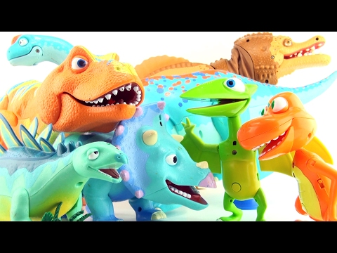 7 Dinosaur Train dinosaurs - Spinosaurus Tyrannosaurus Argentinosaurus - Colorful Dinosaur toys