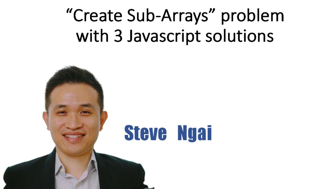 """""""Create sub-array/chunk"""" Data Structure problem with 3 ..."""