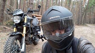 Поездка в лес на китайском скремблере - мотоцикле ABM RX200 06 05 2018!