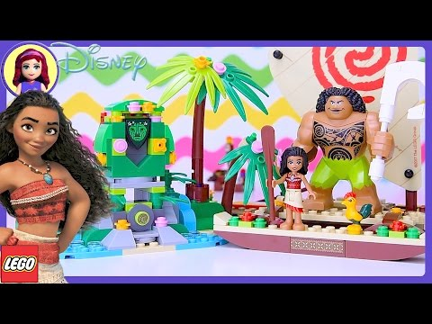 Lego Disney Moanas Ocean Voyage Build Review Silly Play Kids Toys