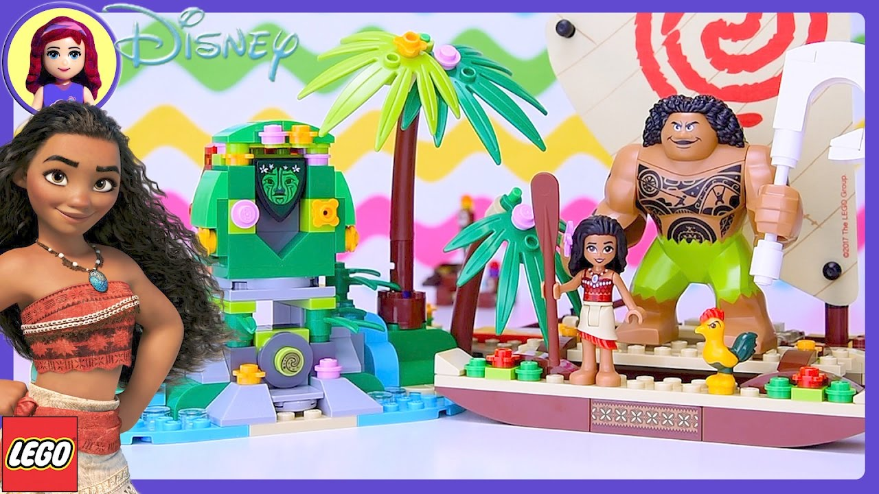 Lego Disney Moana S Ocean Voyage Build Review Silly Play