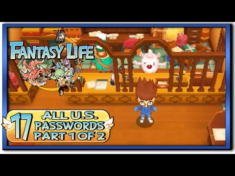 Fantasy Life - Part 17:  All U.S. Secret Passwords [Part 1 of 2]