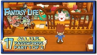 Fantasy Life - Part 17:  All U.S. Secret Passwords [Part 1 of 2]