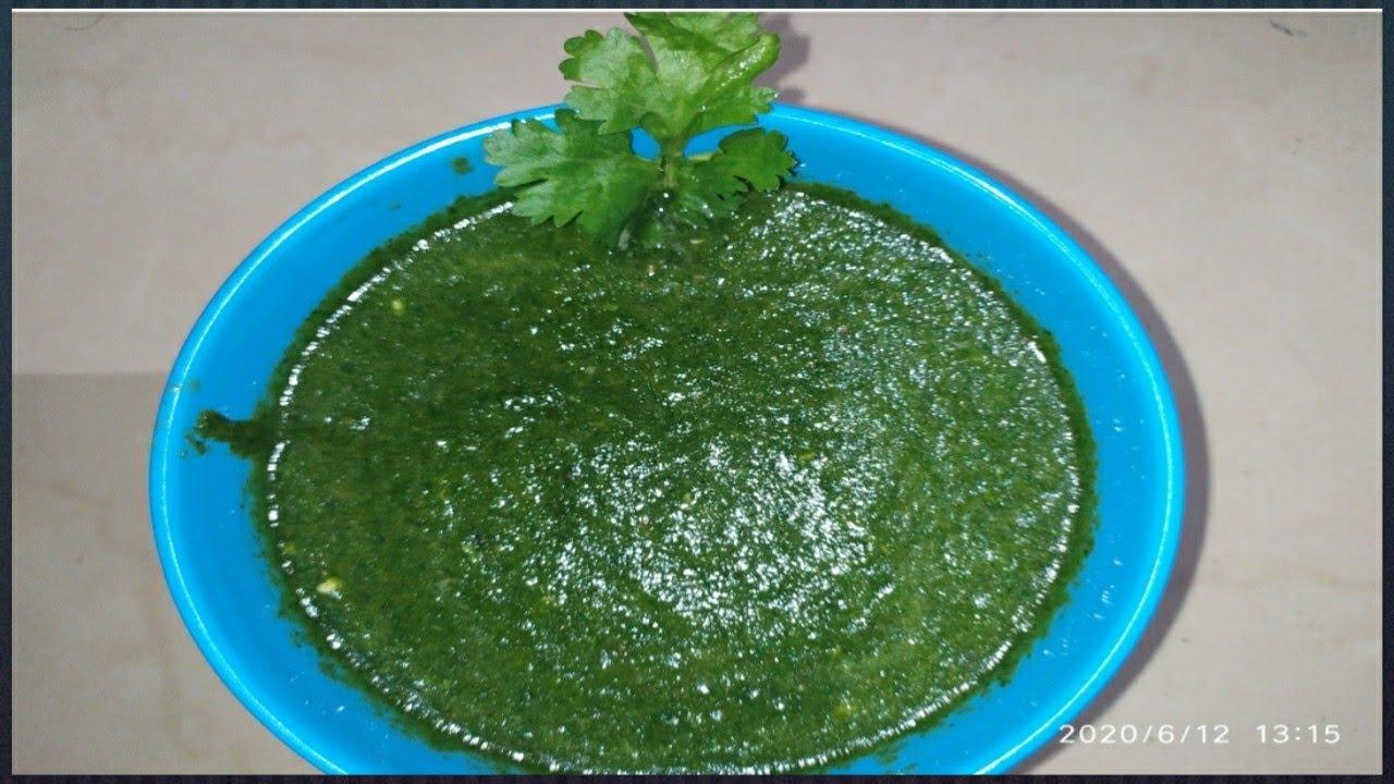 Green chutney   chutney for chaat   spicy green chutney recipe