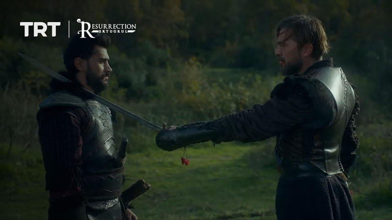 Ertugrul tricks Tugtekin and a fight erupts