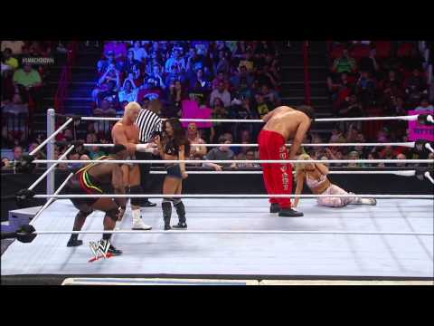 The Great Khali & Natalya vs. Dolph Ziggler & AJ  Lee: Smack