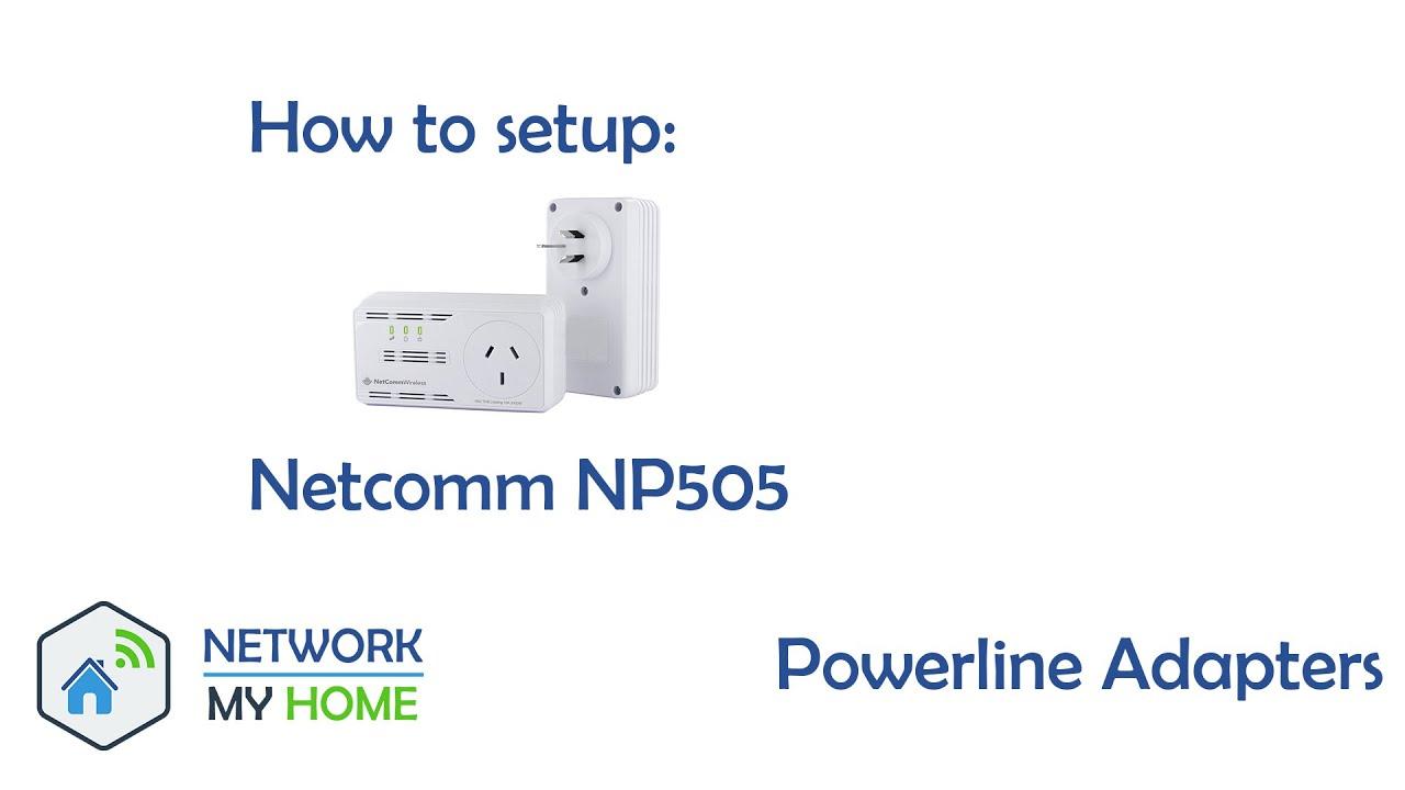 How To Setup Netcomm Np505 Network My Home Youtube