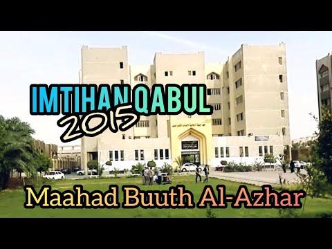 Imtihan Qabul Maahad Buuth Al-Azhar 2015
