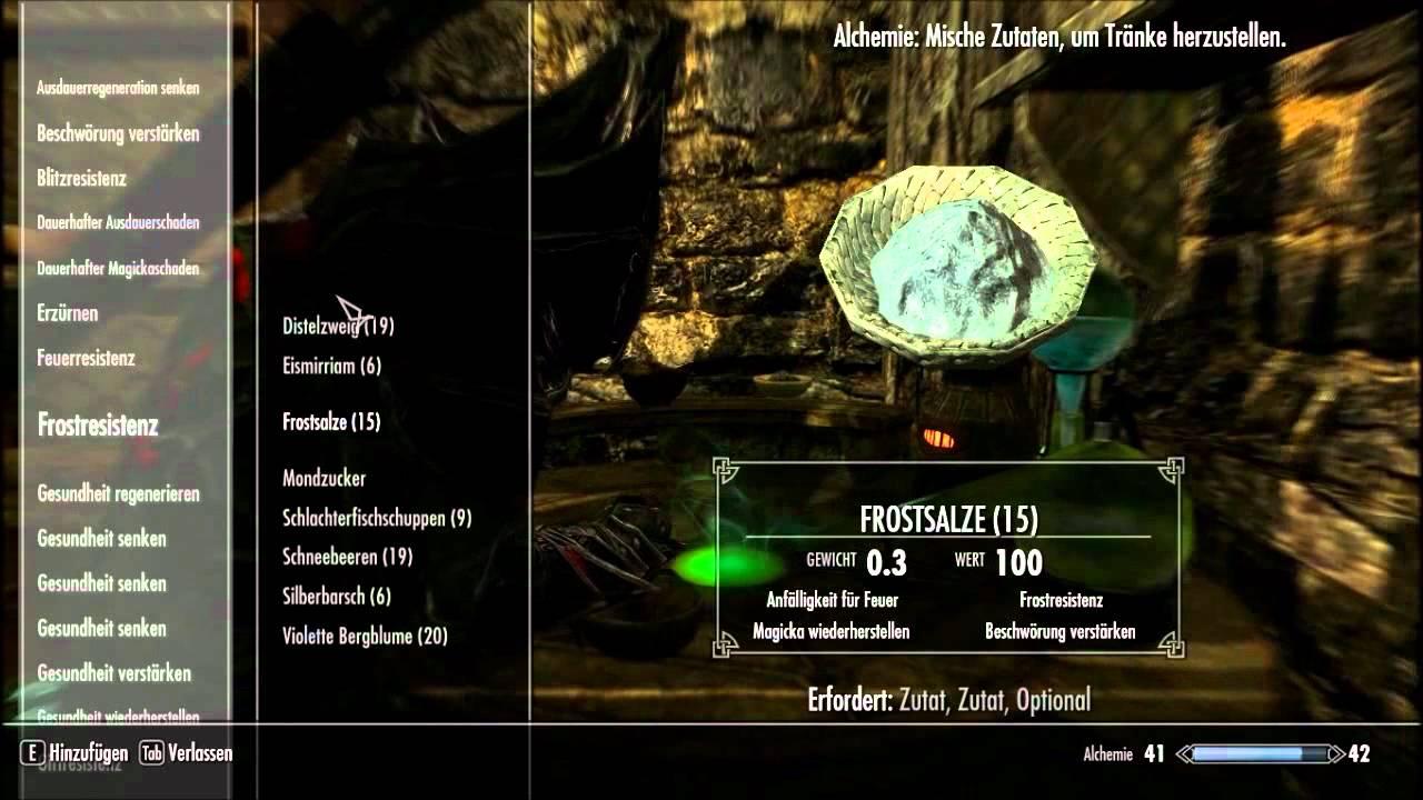 The Elder Scrolls V : Skyrim / Brauen und Zutaten - YouTube