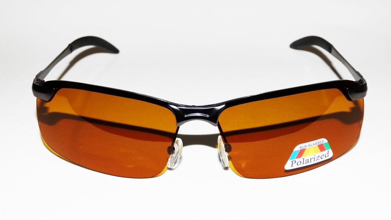 8482063ed772e Óculos P  Chuva e Neblina Lente laranja Polarizado UV400 Armação Metal