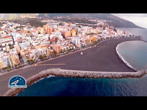 La playa de Santa Cruz de La Palma desde el aire