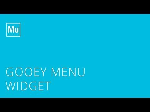 Adobe Muse Gooey Menu Widgets - YouTube