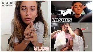 ERSTES MAL LashExtensions, Urlaub w/ma BOY & LUXURY press on nails - VLOG