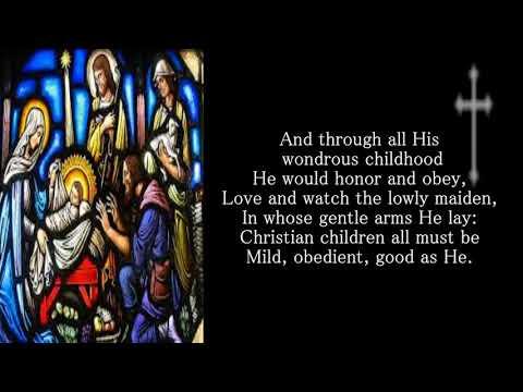 Once in royal davids city Christmas Carol (with lyrics)