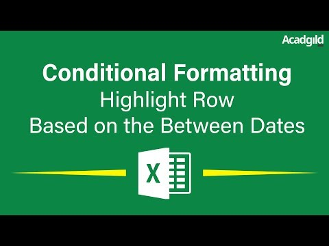 How to Highlight Rows in Excel Based on the Between Dates Using