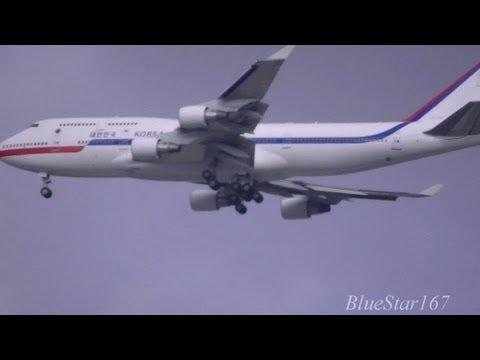 [Korean Air Force 001] Boeing 747-400 (HL7465) approaching into ITM/RJOO (Osaka - Itami)