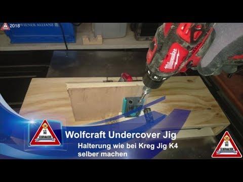 Berühmt Wolfcraft Undercover Jig Halterung wie bei Kreg Jig K4 selber DP14