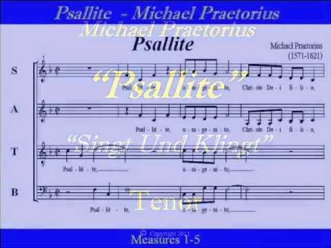 Psallite-Praetorius-Tenor-Singt Und Klingt.wmv