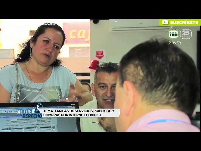 Tarifas de servicios públicos y compras por internet COVID 19