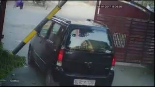 CCTV Footage Accident in India