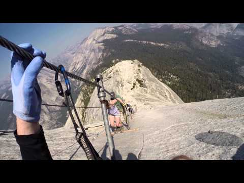 Descending The Cables At Half Dome