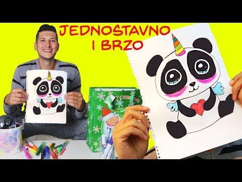 PANDA UNICORN DIY CRTEZ