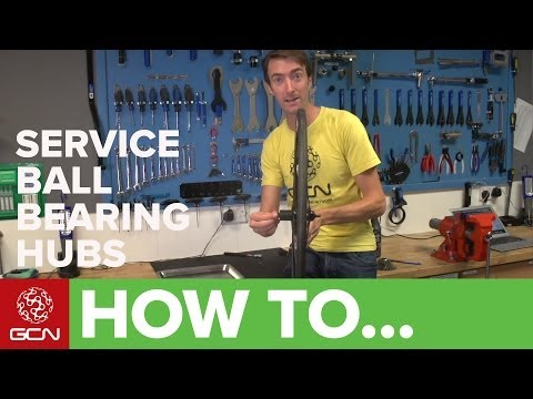 How To Service Shimano Ball Bearing Hubs - Service A Shimano Hub