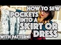 How to Sew Pockets Into a Skirt or Dress | Sew Anastasia