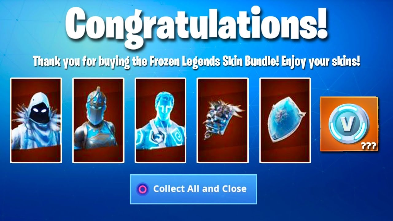 The New Frozen Fortnite Bundle Is Here Unreleased Skin
