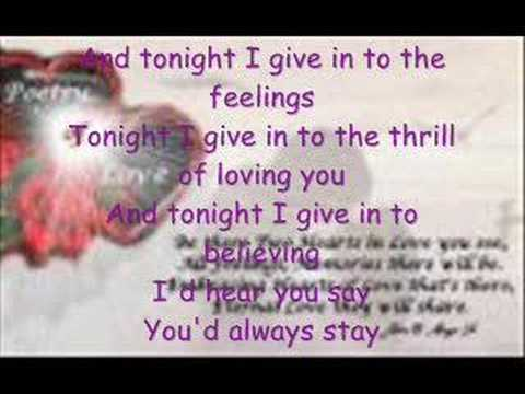 Tonight I Give In by Jinky Vidal
