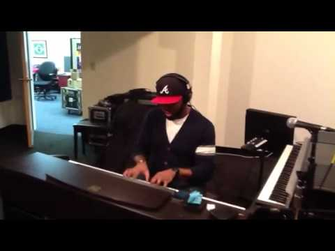 Justin A. Moore in the studio