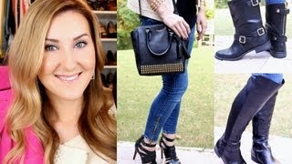 Fall Trends Vol. 2: BOOTS & New Handbag HAUL, Jackets & OOTD