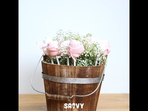 Baby Socks Flower Bouquet Baby Shower Diy Youtube