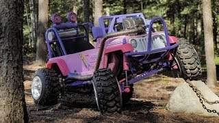 The CRF450 Barbie Jeep Is Finished! Painting and Final Look.