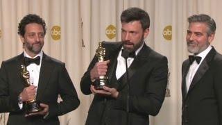 Raw: Affleck, Clooney, Heslov crack jokes during Oscar Q&A