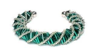 Tutorial: beads style №3 for pandora bracelet / Спиральный жгут из бисера и стекляруса