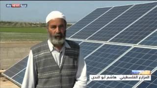 غزة.. مزارع يروي أرضه بالطاقة الشمسية