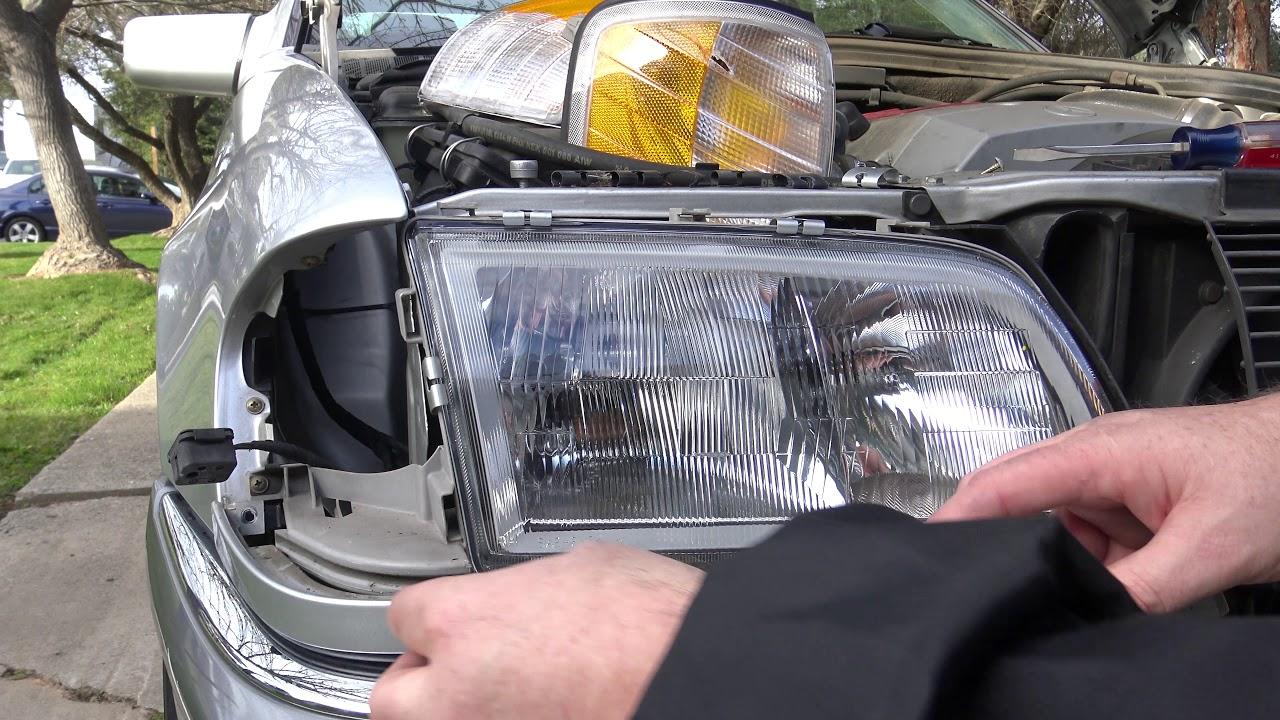 Replacing The Headlight On A 1994 2000 Mercedes W202 C230 Youtube Mercedesbenz E320 Engine Wiring Harness W01331715517 Genuine