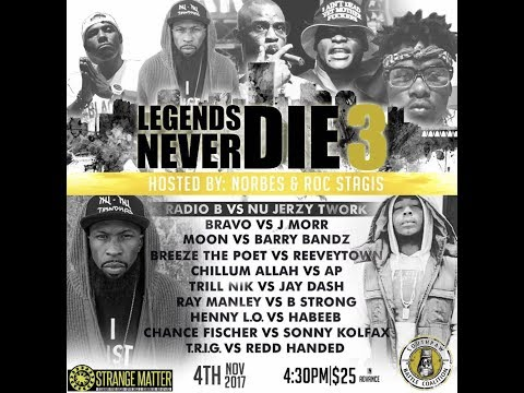 Radio B vs Nu Jerzey Twork - SouthPaw Battle Coalition - Legends Never Die 3
