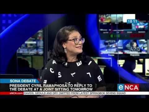 Political analyst Karima Brown weighs in on Parliamentary Sona debate - eNCA