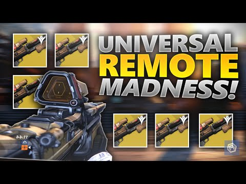 Destiny - SIX UNIVERSAL REMOTES IN CRUCIBLE! (Crucible Live Gameplay)