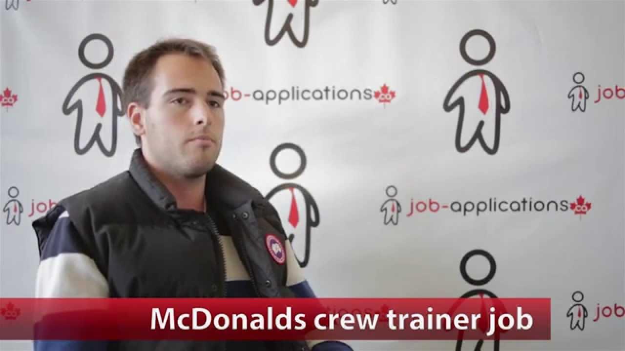 McDonalds Crew Trainer Job