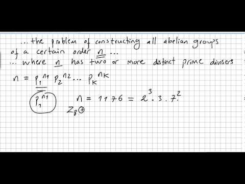 Group Theory 48, Fundamental Theorem of Finite Abelian Groups