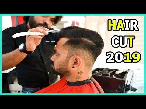 Hair Cut 2019 | High Fade + Loose Pompadour | Hindi
